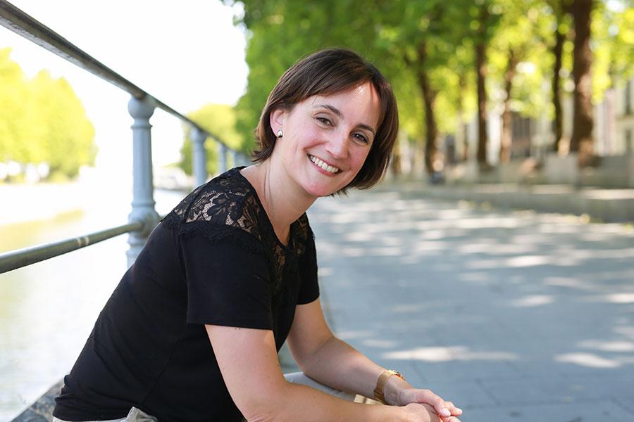 Nathalie Crahay, en balade à Tournai